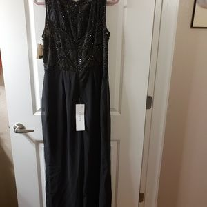 CACHE Sequin Black Jumpsuit